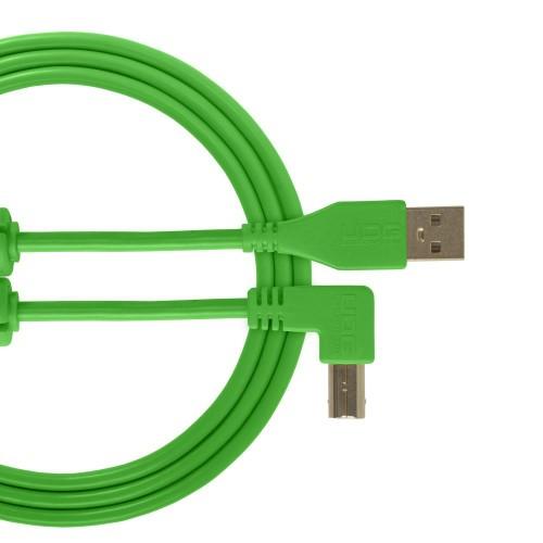 USB 2.0 A-B Green Angled 2M