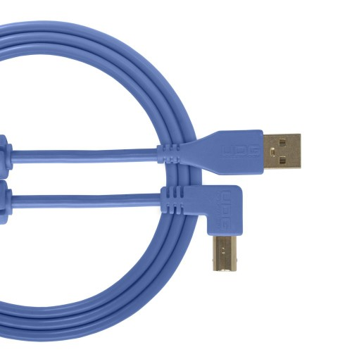 USB 2.0 A-B Light Blue Angled