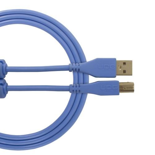 USB 2.0 A-B Light Blue Straight