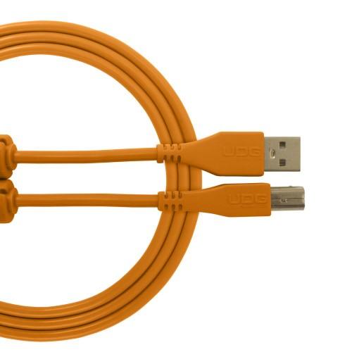 USB 2.0 A-B Orange Straight