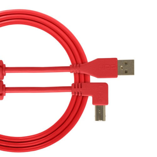 USB 2.0 A-B Red Angled