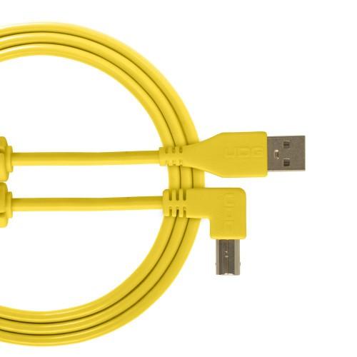USB 2.0 A-B Yellow Angled