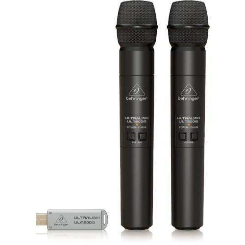 זוג מיקרופונים אלחוטיים Behringer ULM202USB