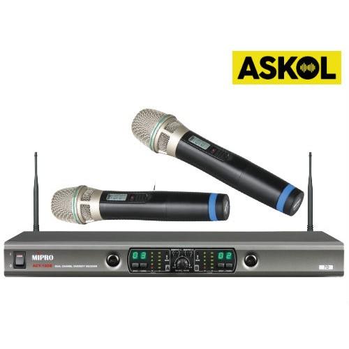זוג מיקרופונים אלחוטיים Mipro ACT-100