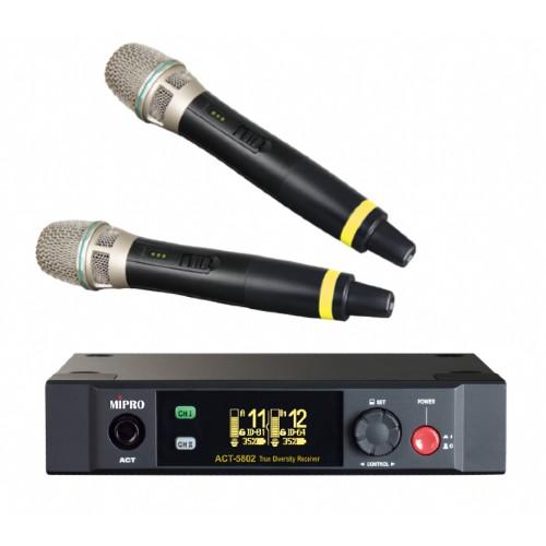 זוג מיקרופונים אלחוטיים Mipro ACT-5802