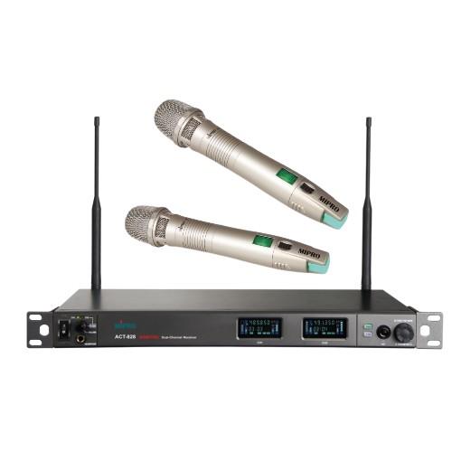 זוג מיקרופונים אלחוטיים Mipro ACT-828