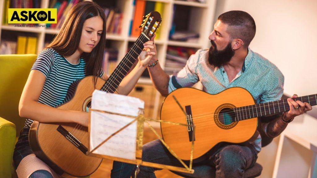 איך ללמוד לנגן על גיטרה